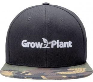 Boné GrowPlant - Preto - Aba Camuflada