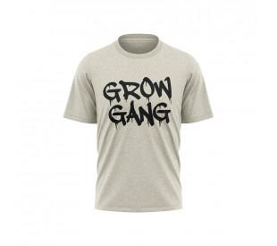 Camiseta Grow Gang - Mescla Branca