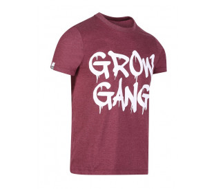 Camiseta Grow Gang - Mescla Bordô