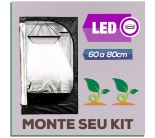 Kit Cabine de Cultivo com LED - 60 a 80cm