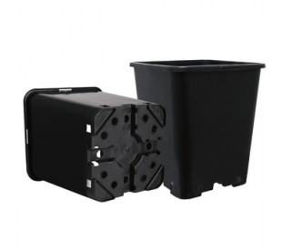 Vaso Quadrado Anti Stress c/ Plástico Resistente - 5,3 Litros